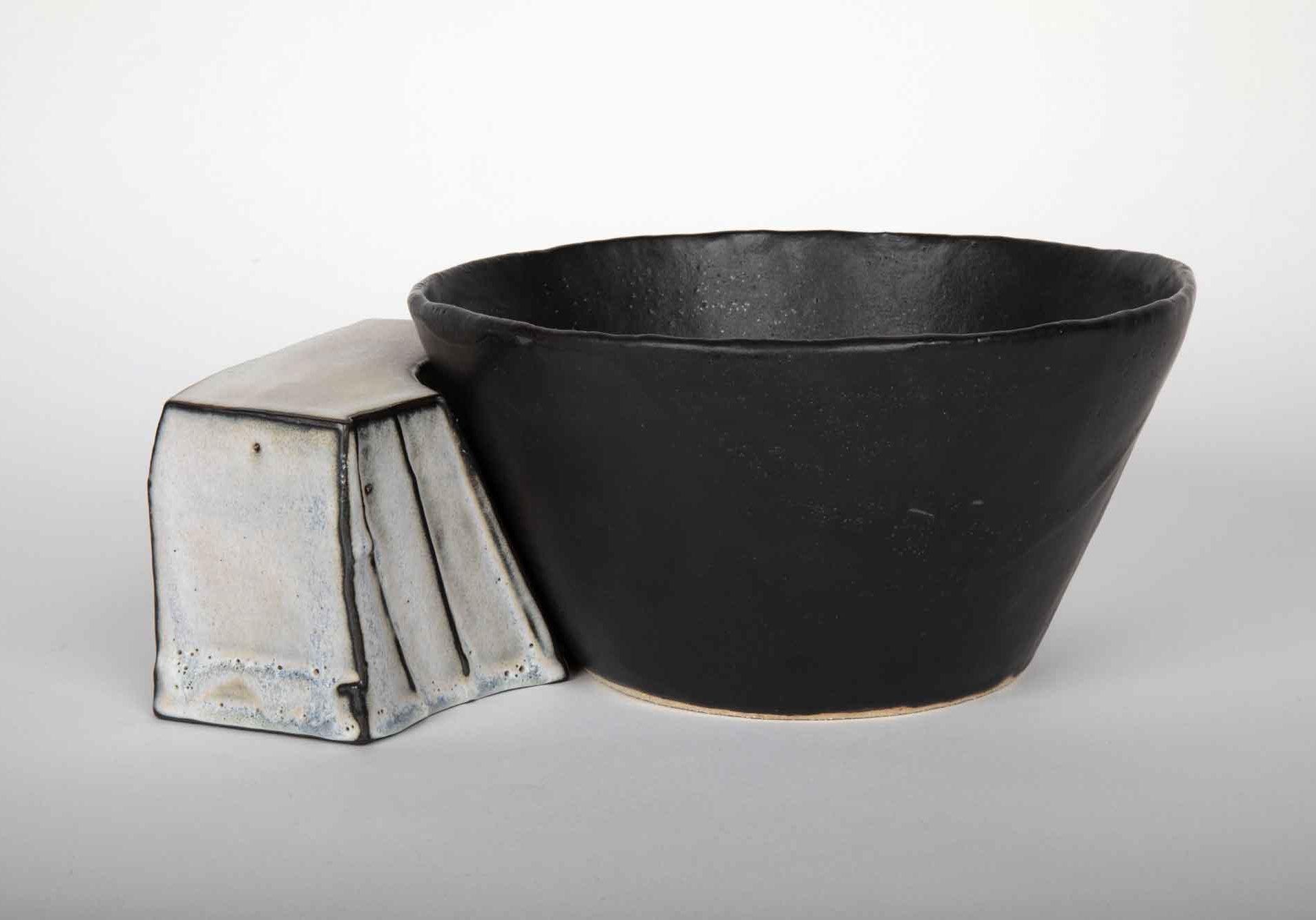 Accord noir grès céramique émaillé Aline Laffolie